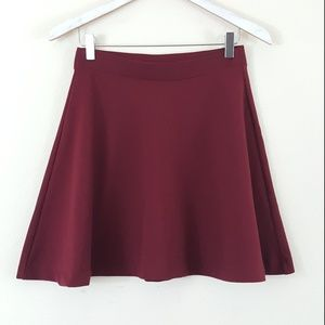 Old Navy Burgundy Red Thick Circle Skirt XS